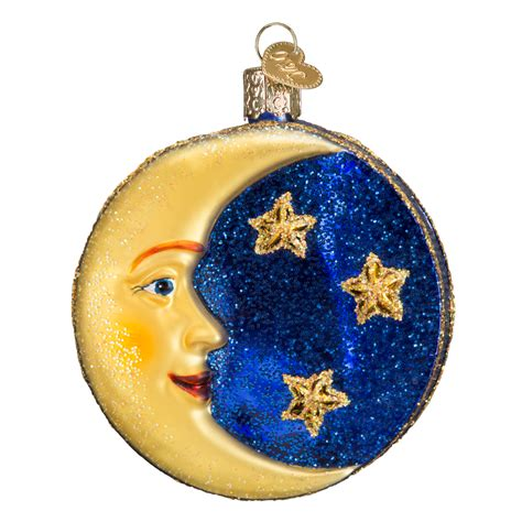 man in the moon ornament old world christmas glass