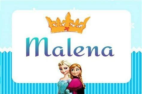 Malena Shower by Nombre De Beb 233 En El Distintivo Para Baby Shower De