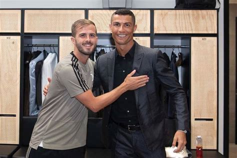 ronaldo juventus introduction miralem pjanic was to welcome cristiano ronaldo in the dressing room of juventus