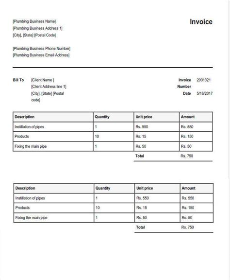 sle template for invoice 28 blank plumbing invoice free ed phillips plumbing