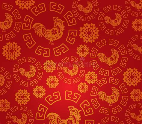 new year background pattern new year rooster pattern background stock vector