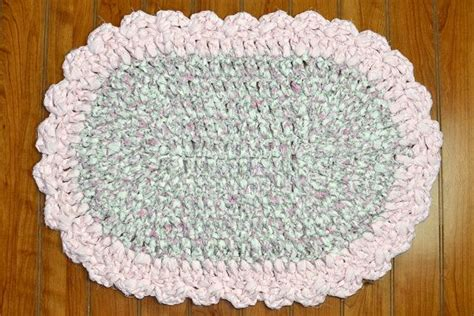 shabby chic rag rug shabby chic rag rug floral fabric scalloped pale
