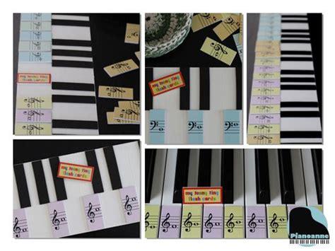 piano flashcards diy miniature piano key flash cards piano pinterest