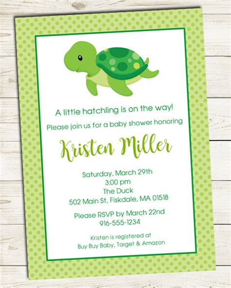Turtle Baby Shower Favors by Turtle Baby Shower Invitations Baby Shower