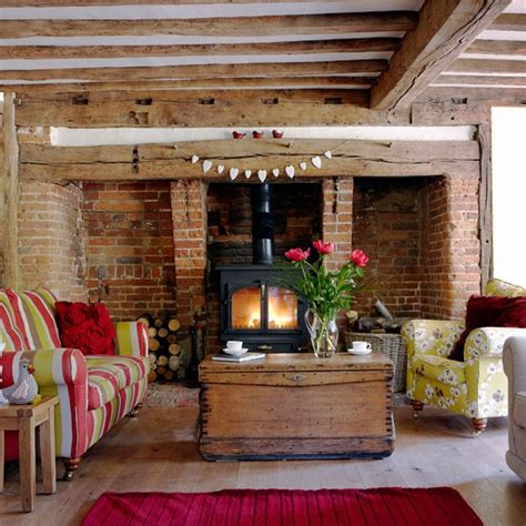 Living Room Ideas With Inglenook Fireplace Living Room Real Homes A Cosy Cottage In Kent