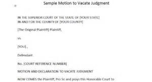 Credit Dispute Letter For Judgement Sle Motion To Vacate Judgment Dispute Letters That Work