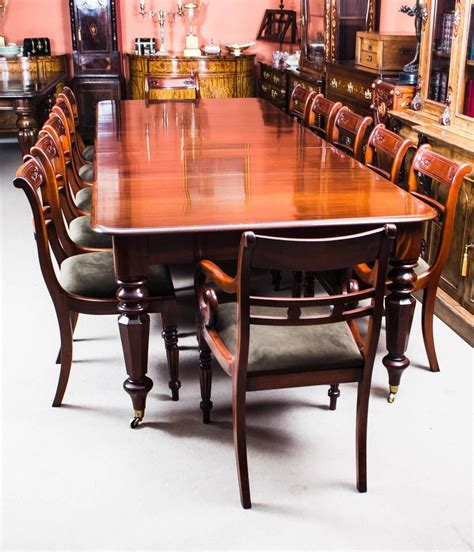 antique william iv mahogany extending dining table   chairs  stdibs
