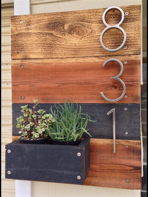 address numbers wooden address number planter