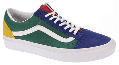 yacht club vans boty vans old skool vans yacht club blue green yellow