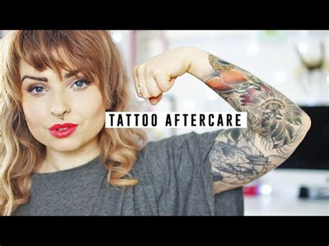 tattoo aftercare youtube tattoo aftercare helen anderson youtube