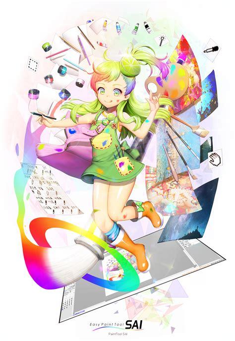 painttool sai os zerochan anime image board