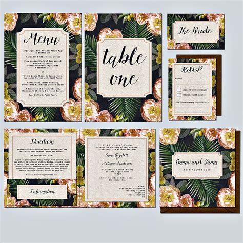 citrus themed wedding invitations citrus palm wedding invitation gallery