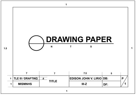 Drafting Drawers by Drawing Paper Drafting Technology Iii