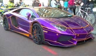 purple lamborghini aventador by liberty walk seized