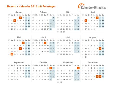 Kalender 2015 Feiertage Feiertage 2015 Bayern Kalender