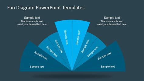 Fan Diagram Design For Powerpoint Slidemodel Powerpoint Use Diagram Template