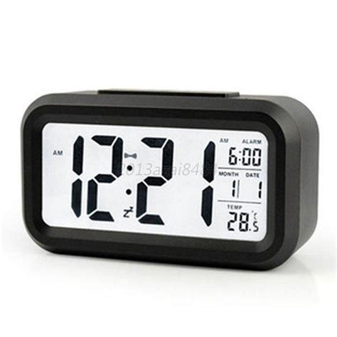 Jam Weker Alarm Meja Led Calendar Temperatur Vst 726wx digital led snooze electronic alarm clock backlight time calendar thermometer ebay
