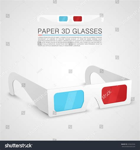 How To Make Paper 3d Glasses - paper 3d glasses vector illustration 223022926