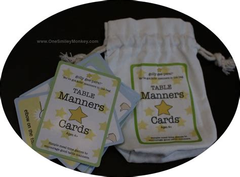 golly gee pers table manners cards review giveaway - Pers Giveaway