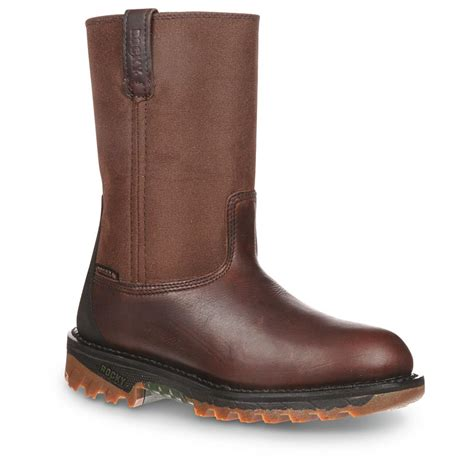 wellington work boots for rocky ride waterproof wellington work boots brown