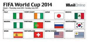 World Cup Sweepstake - world cup 2014 sweepstake your essential kit for brazil daily mail online