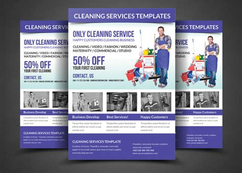 free cleaning flyer templates 20 cleaning services flyers templates