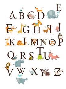 alphabet animals a z large set wall decals stickers
