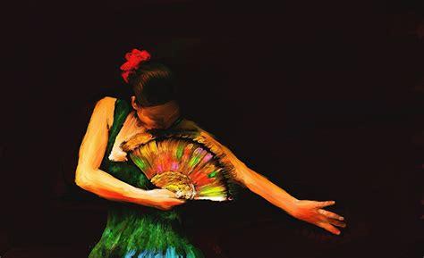 arte flamenco wallpaper fonds d ecran peinture dessin 233 the flamenco dancer s fan