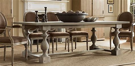 restoration hardware monastery table dream table making houses beautiful