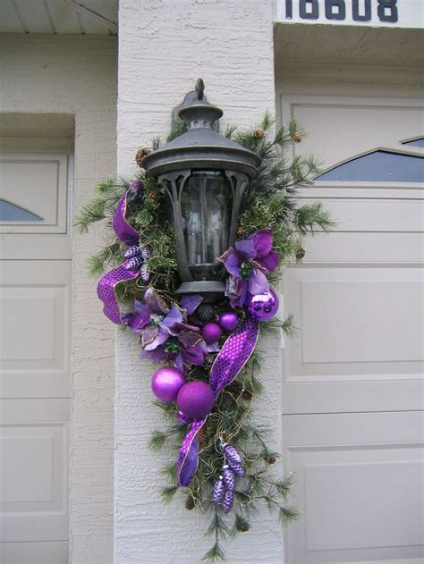 christmas swag lights decorations 17 best images about royally purple christmas on pinterest