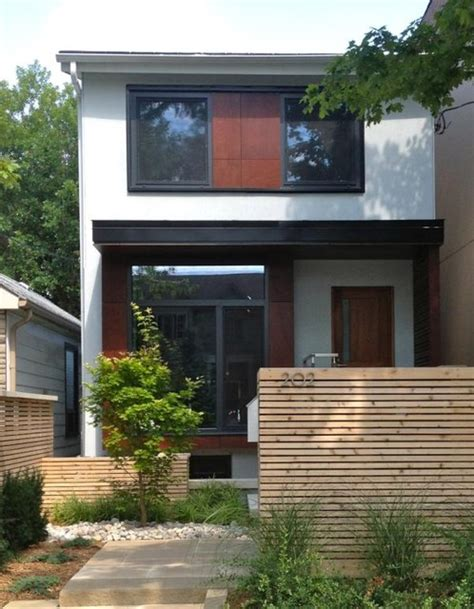 home exterior design toronto bedford park front view with passive house windows