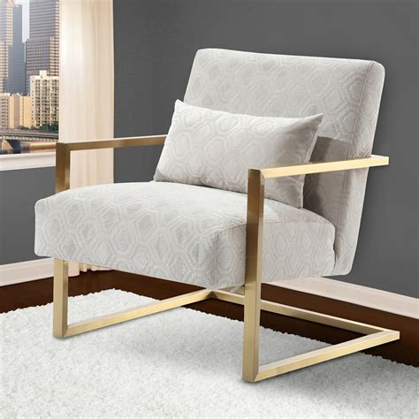 metal accent chair skyline modern accent chair chenille gold metal dcg stores