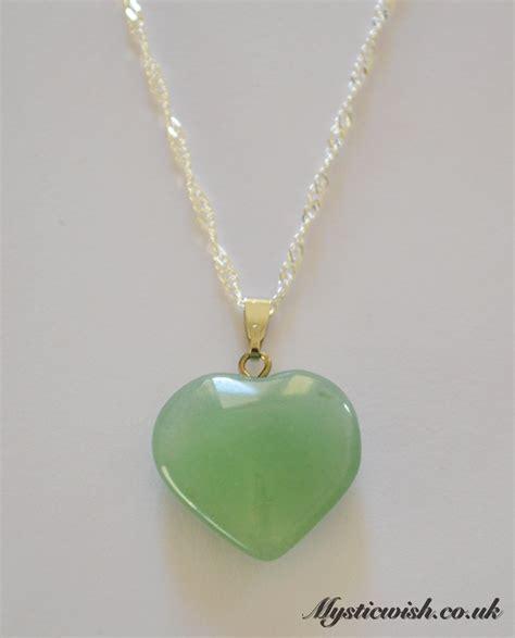 green aventurine pendant on 18 necklace mystic wish