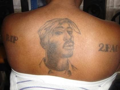 tupac back tattoo best 2pac
