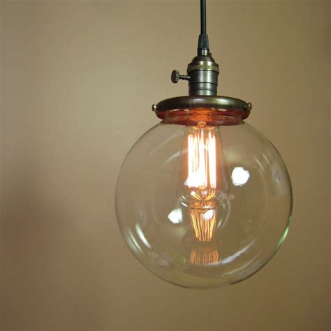 Globe Pendant Lights Reserved For Mandy Pendant Light With 8 Inch Clear Glass