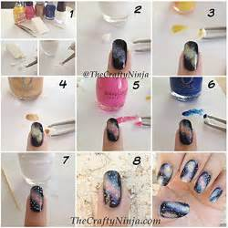 galaxy nail art design diy alldaychic