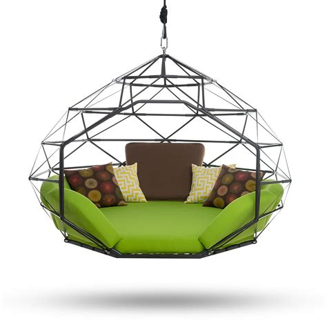 outdoor lounge swing the pod by kodama zome 169 outdoor swing bed lounge