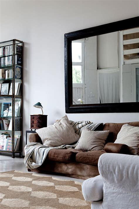 large living room mirrors large mirror above sofa decor wall behind sofa