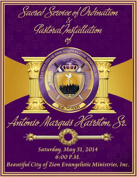 Consecration Sermon Outline by A Marquis Hairston Sr Ordination Installation Program By A Marquis Hairston Sr Issuu
