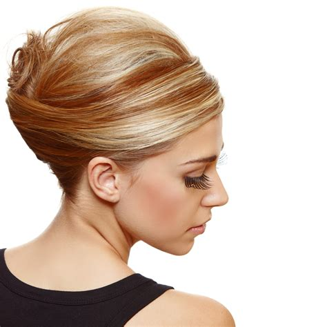 most popular sleek classic french twist with side bangs lionesse flat iron updos ponies