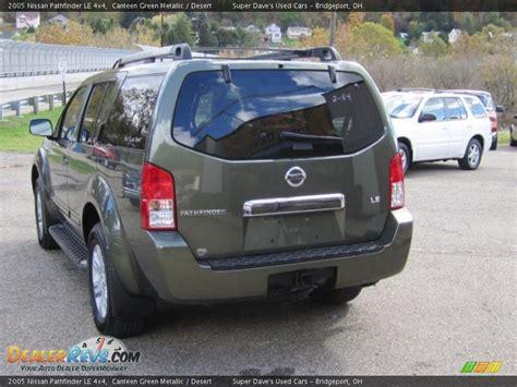 2005 Nissan Pathfinder Le by 2005 Nissan Pathfinder Le 4x4 Canteen Green Metallic