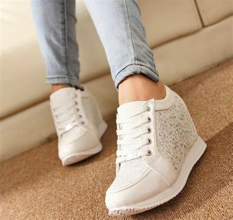 Sepatu Wanita Sepatu Kets Sport Sneakers Wedges Boot High Heels Cewek 309 2015 sneakers heels wedge sneakers shoes fashion s ankle boots causal