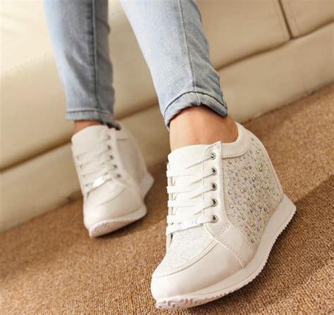 Sepatu Wanita Sepatu Kets Sport Sneakers Wedges Boot High Heels Cewek 218 2015 sneakers heels wedge sneakers shoes fashion s ankle boots causal