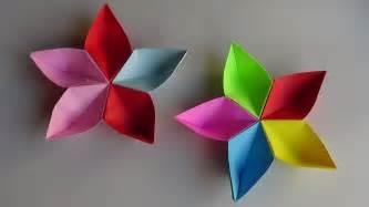 Flor De Origami - flor modular de papel origami