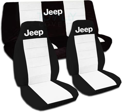 white seat covers for jeep wrangler jeep wrangler yj tj jk 1987 2017 two tone seat covers w