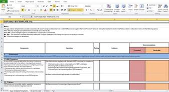 analysis template excel gap analysis template excel excel tmp