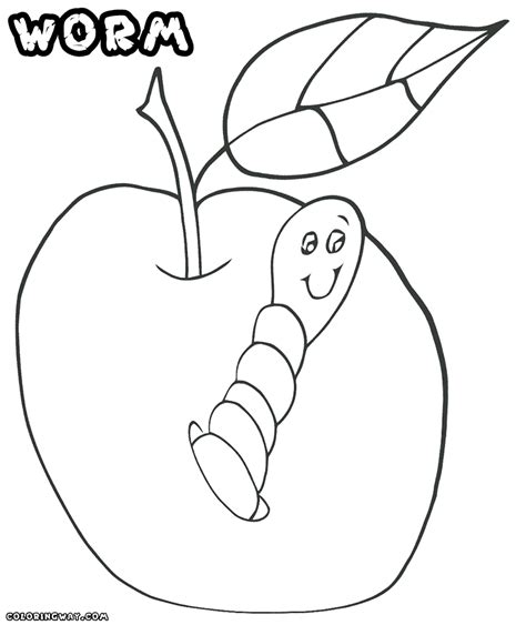 worm coloring pages coloring pages to download and print