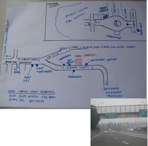 rute pintu tol jagorawi rumah dijual cluster 3 5km dr pintu tol jatiasih lbr jln