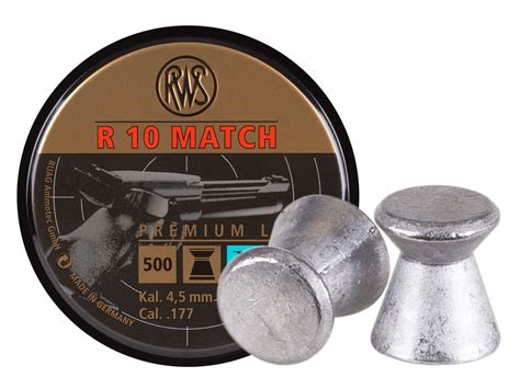 Wadcutter Pellets 177 Cal 500 Ct rws r 10 match pistol 177 cal 7 0 grains wadcutter