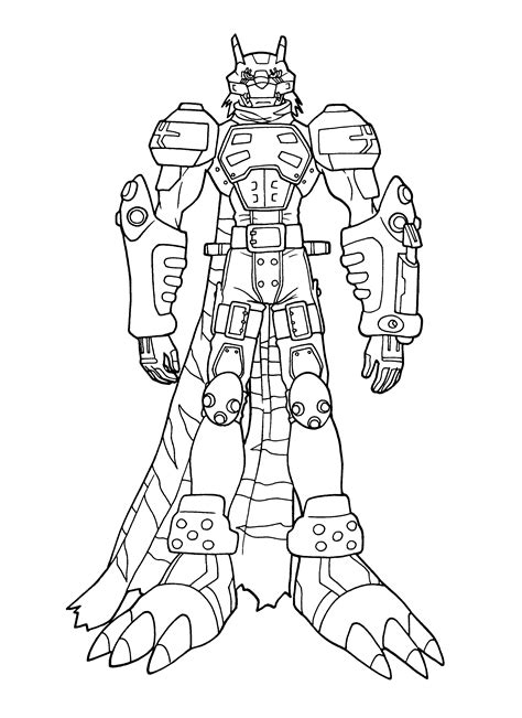 Omnimon Coloring Pages Coloring Pages Digimon Coloring Pages